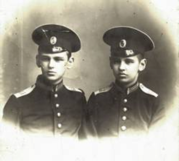 Misha and and his brother Iura at the Sumskoy Cadet School, around 1915. Yiuriy, on the right, was the younger of the two brothers. Misha was last seen in 1920 - after the evacuation of the White Russian Army from the Crimea. He was presumed dead at the age of 22 - killed by the Reds.
