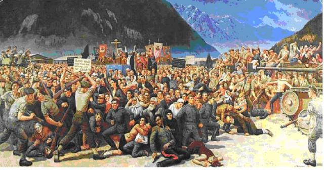 """Betrayal of Cossacks at Lienz, Austria"" by S.G. Korolkoff, June of 1945"